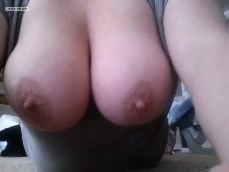 Tit Flash: My Very Big Tits By IPhone (Selfie) - Fyrdog's Wife from United States